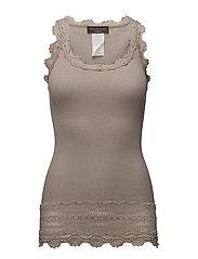 Silk top medium w/wide lace - PORPOISE