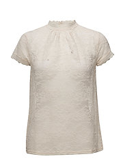 T-shirt regular ss w/lace - SOFT POWDER