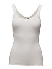 Silk top regular w/rev vintage lace - NEW WHITE