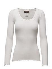 Silk t-shirt regular ls w/rev vinta - NEW WHITE