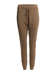 Trousers long w/tie string - Dark sand