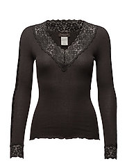Silk T-shirt Long Sleeve - RAVEN