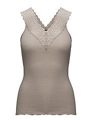 Silk top regular w/ lace - ATMOSPHERE