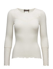 Silk T-shirt Long Sleeve - IVORY