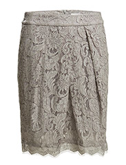 Skirt - Soft grey silver print