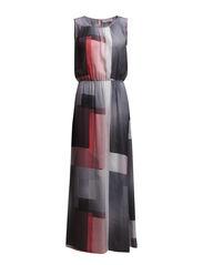 Dress - Square layering print