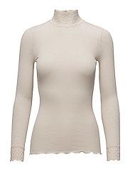 Silk t-shirt turtleneck regular ls - SOFT POWDER