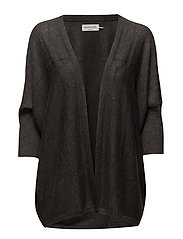 Cardigan 3/4 s - DARK GREY MELANGE