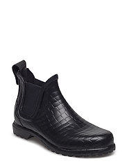 Wellingtons - BLACK CROCO EMBOSSED