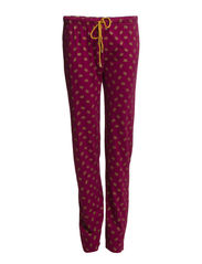Womens homesuit - Black and beet red allover