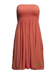 Strapless dress - Fresh salmon