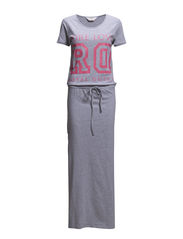 Long beachdress - Grey melee