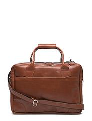 Nano big zip bag leather - Cognac