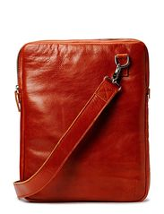 Laptop Cover w/strap 16inch - Cognac