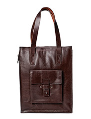 School zip bag - Brown