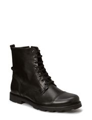 Grana zip boot - tweed - Black