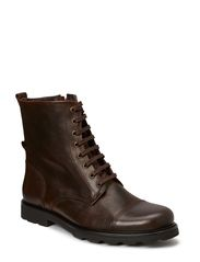 Grana zip boot - tweed - Brown