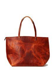 Reflection zip bag - COGNAC