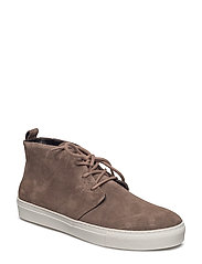 SPARTACUS CHUKKA SUEDE WHITE OUTSOLE - TAUPE