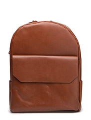 NEW COURIER BACKPACK - COGNAC