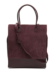 NEW TOTE BAG SUEDE - BORDEAUX