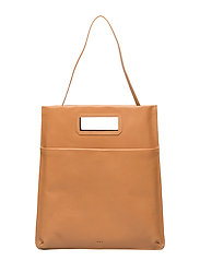New Courier flat tote caviar - NATURAL