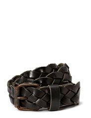 Artisan handbraided belt - 3,5 cm - Black