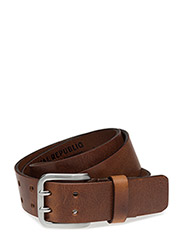 DOUBLE LIMIT BELT - COGNAC