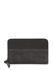 GALAX WALLET MINIATURE SUEDE - ANTHRACITE