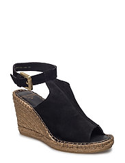 WAYFARER HIGH WEDGE SUEDE - BLACK