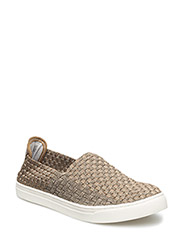 Picadilly Circus braided slip-on sneakers - Dark Gold