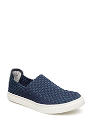Picadilly Circus braided sneakers - NAVY