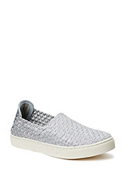 Picadilly Circus braided slip-on sneakers - Silver