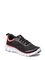 Velocity sneaker, comfy and easy - Black/Coral
