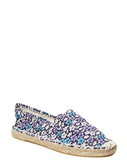 Flamingo espadrille - Purple Flower
