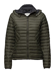 W LINK DOWN HOOD - FOREST GREEN