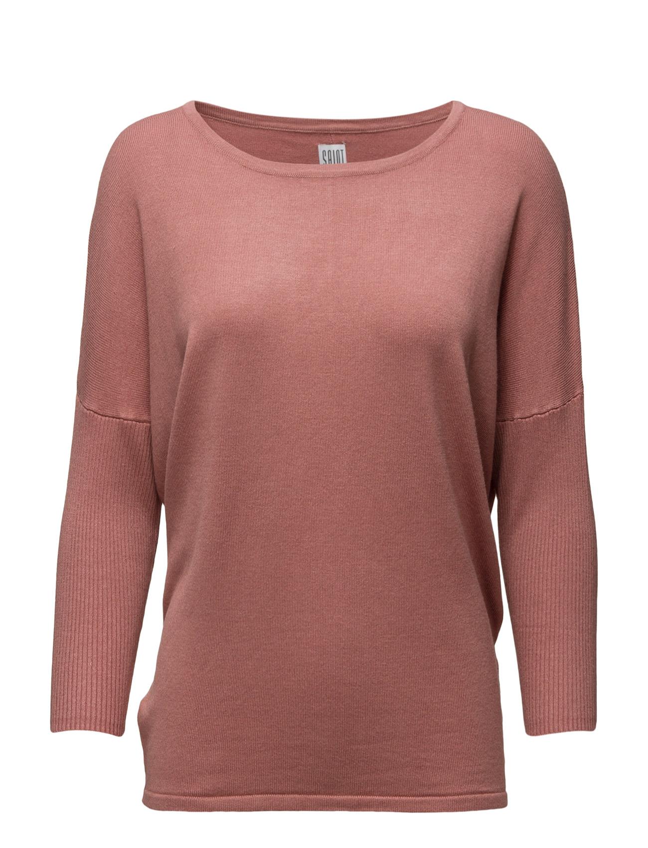 Knit Blouse W Rib Sl Saint Tropez Sweatshirts til Kvinder i