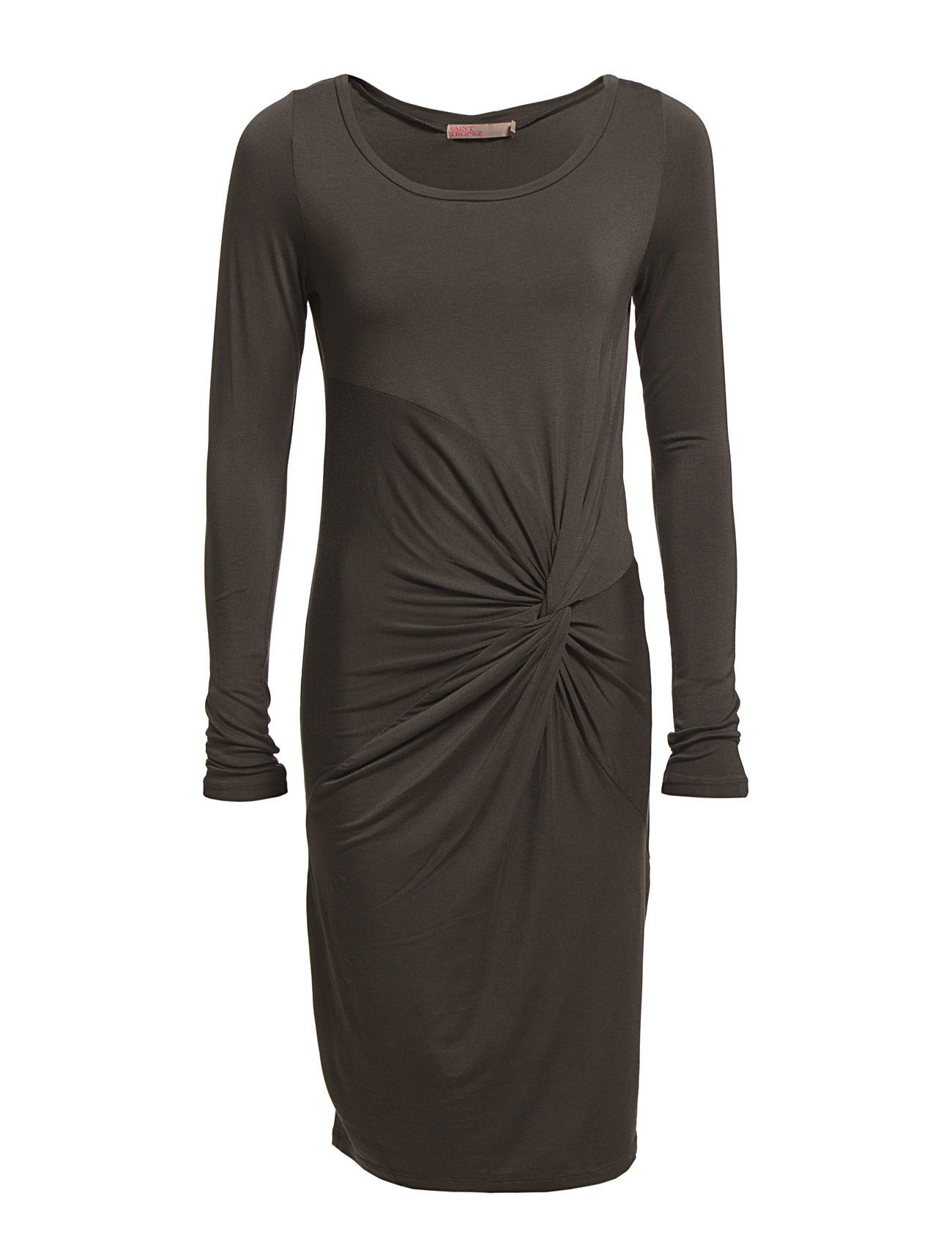 L/S Dress With Draping Detail