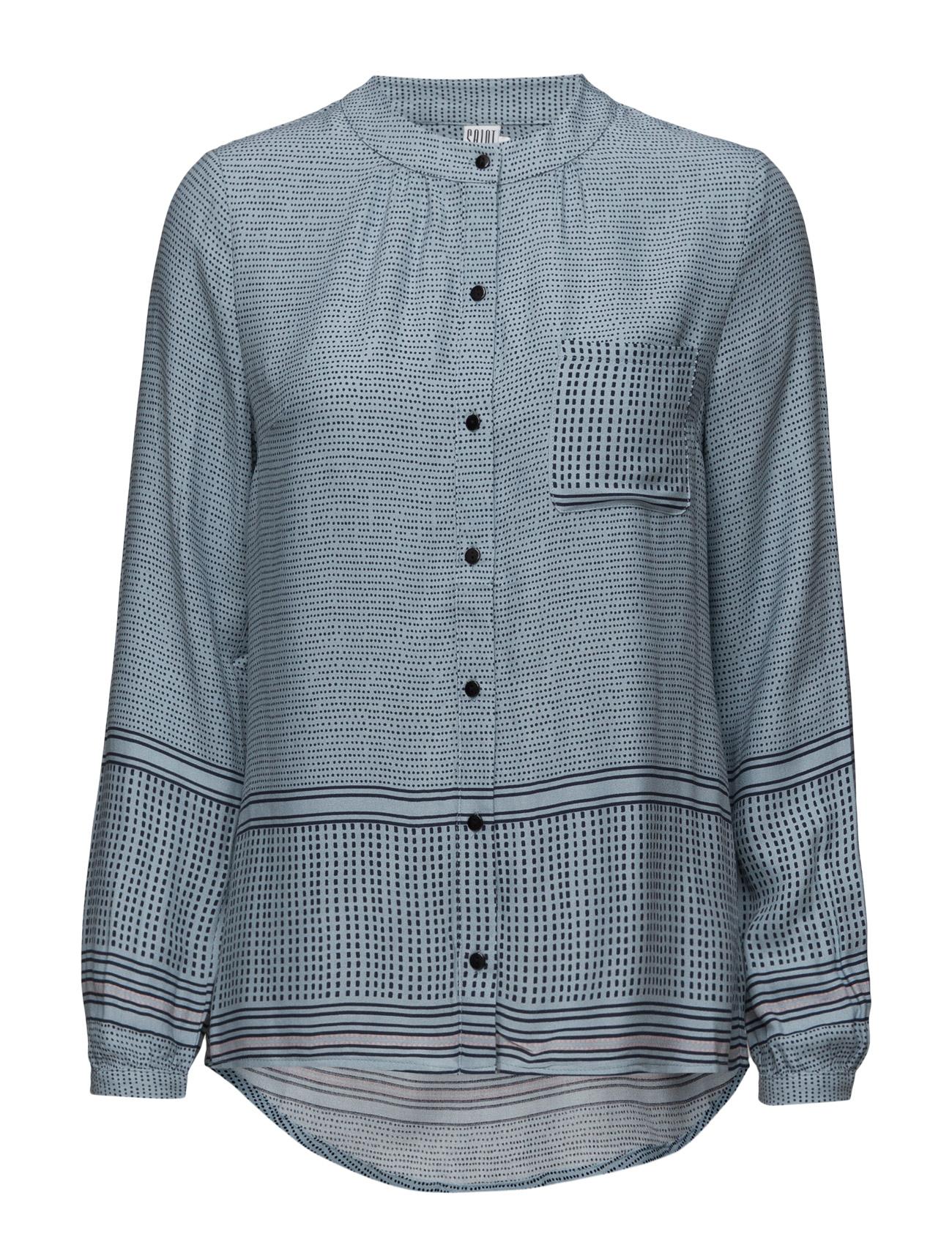 Dotty Printed Shirt Saint Tropez Langærmede til Damer i Sort