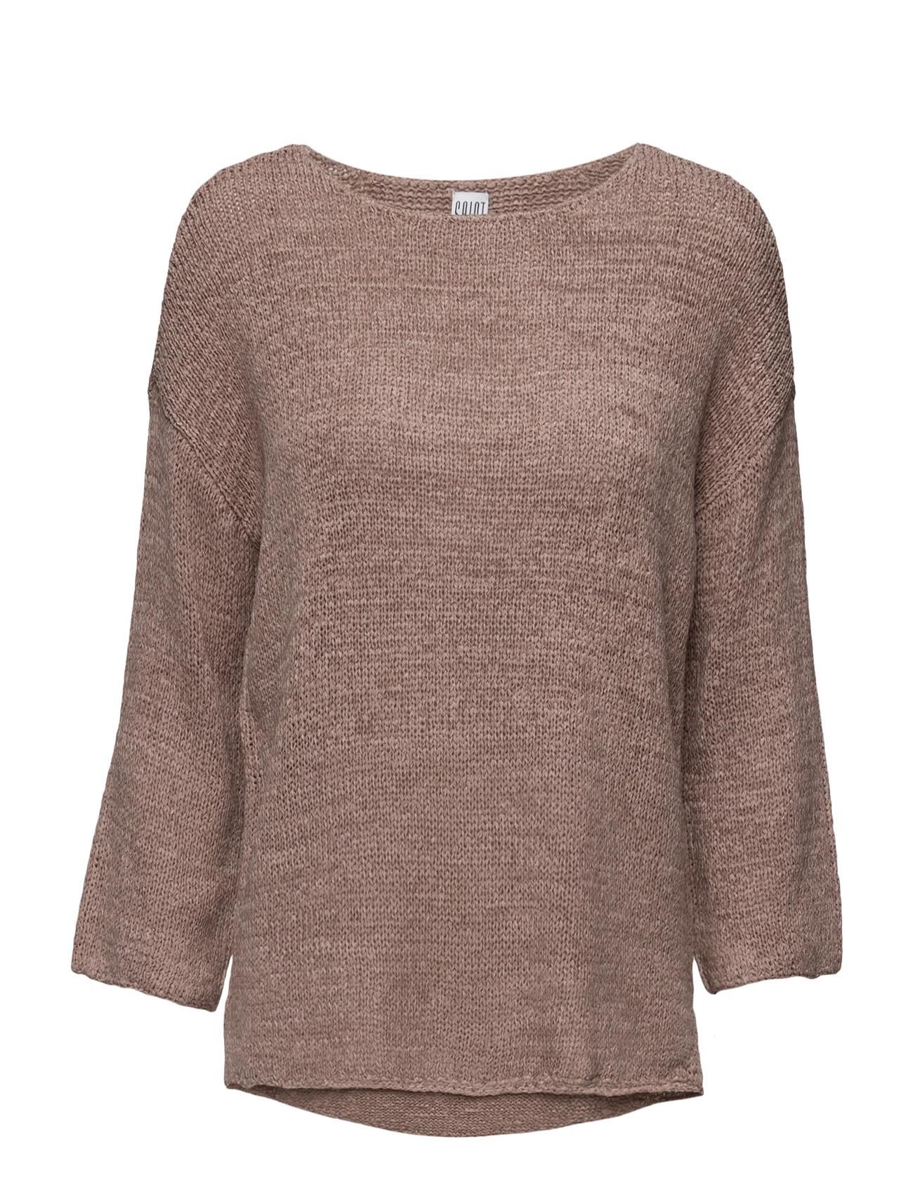 Tape Yarn Sweater Saint Tropez Sweatshirts til Kvinder i Is
