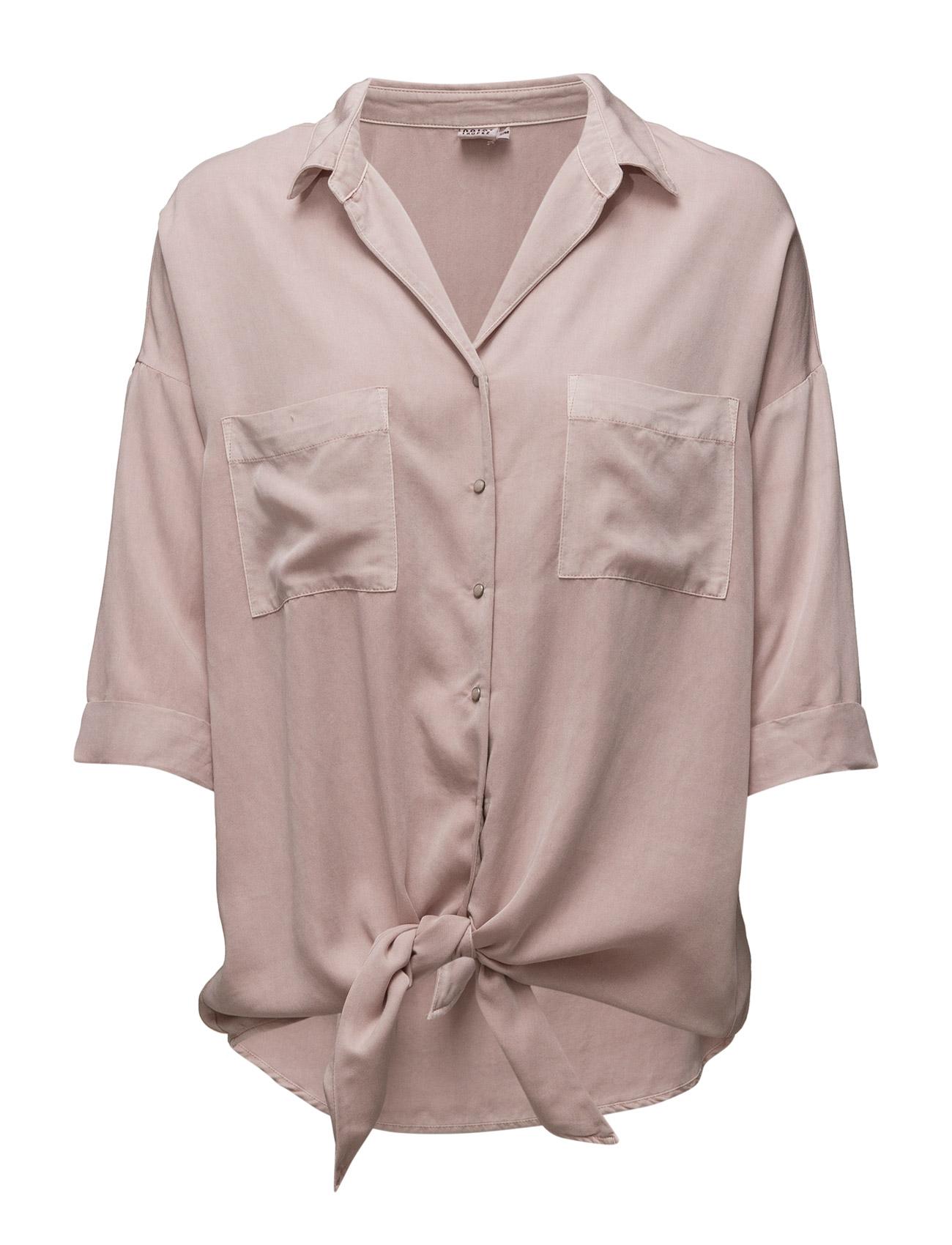 Shirt W. Knot Saint Tropez Langærmede til Damer i