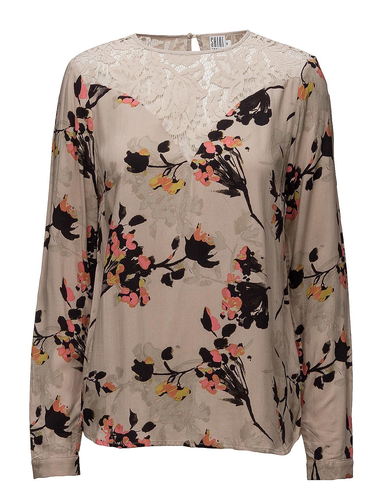 Flower Print Lace Blouse