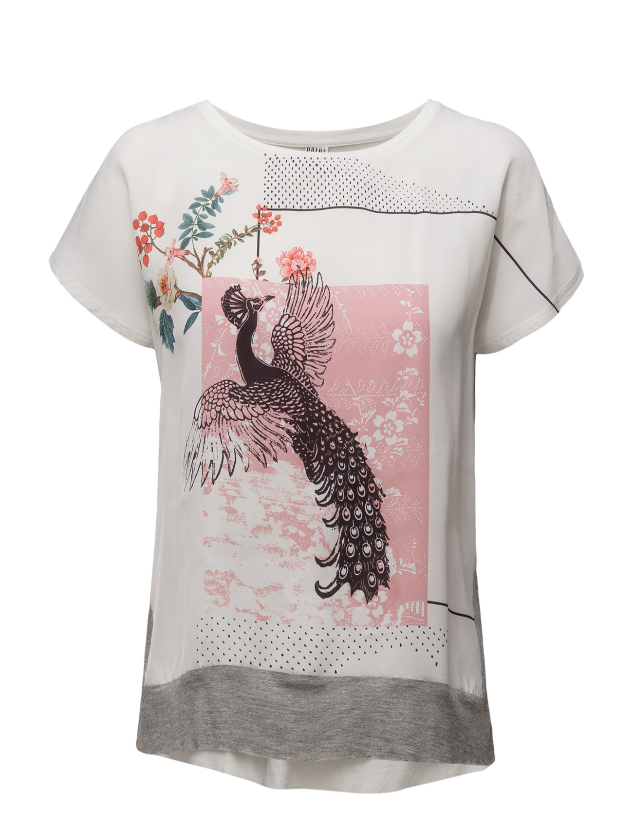 T-Shirt W. Front Print Saint Tropez T-shirts & toppe til Kvinder i