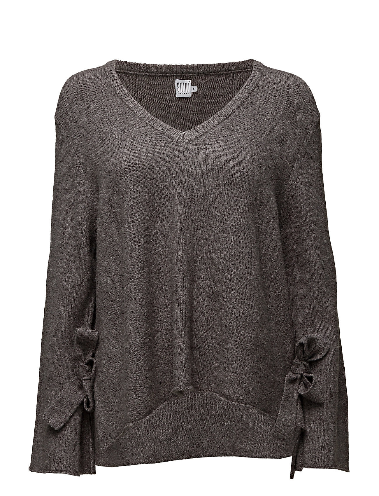 Knit Blouse With Tie Sleeve Saint Tropez Sweatshirts til Damer i