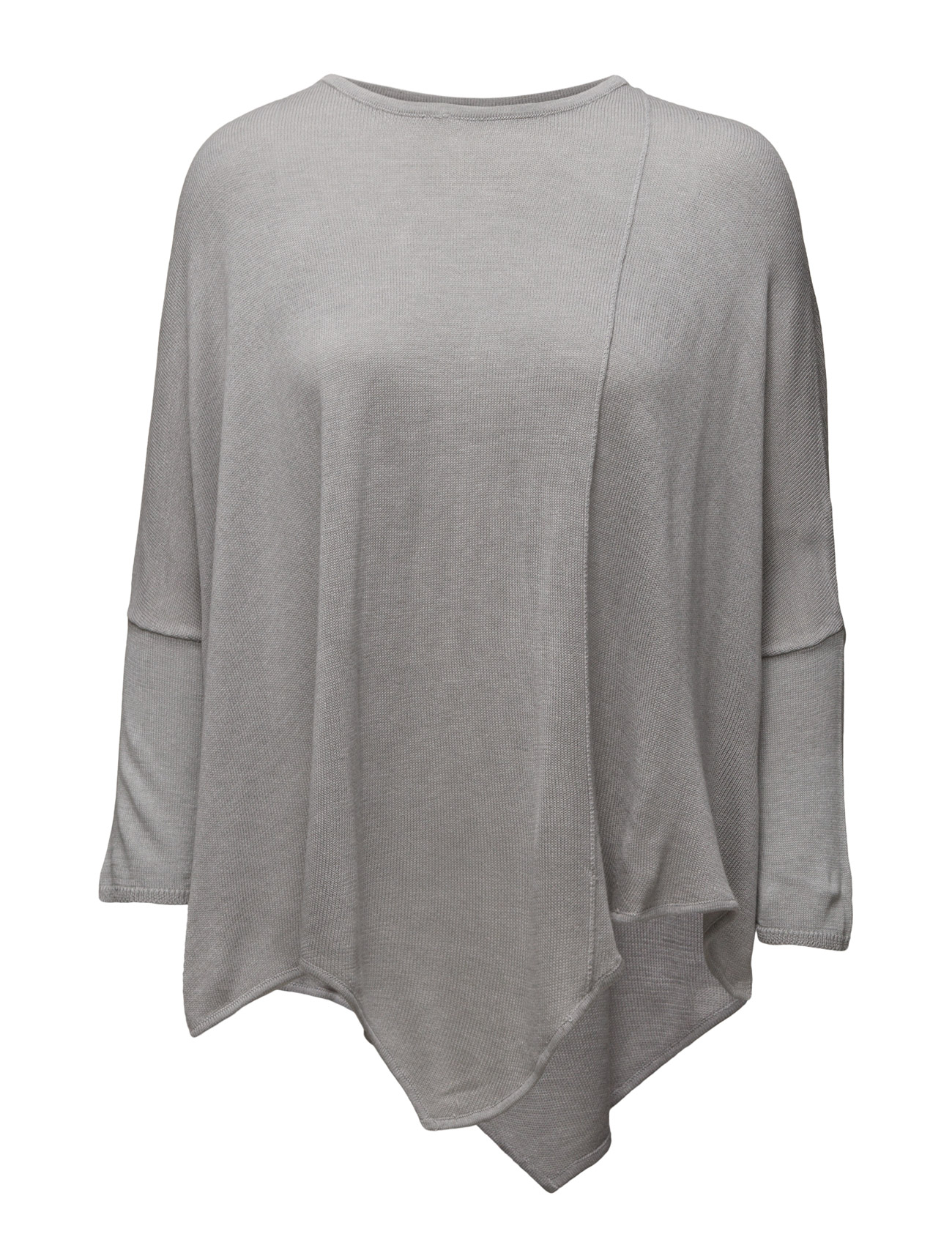 Knit Blouse With Visible Seam Saint Tropez Sweatshirts til Damer i C.Grey M