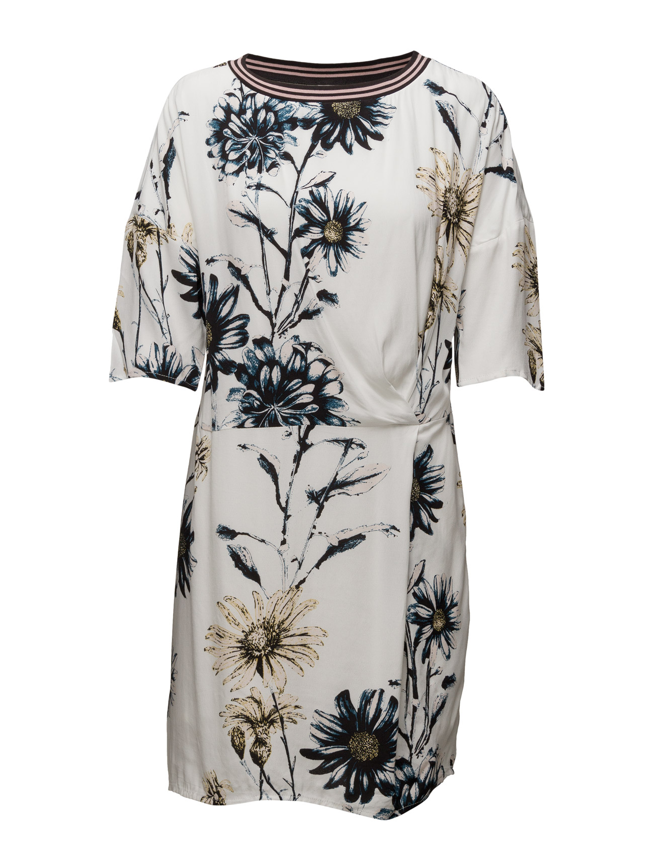 Daisy Printed Dress W. Knot Saint Tropez Korte kjoler til Kvinder i Is