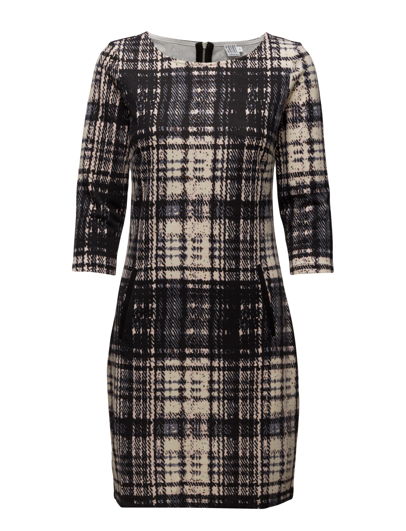 Check Print Jersey Dress Saint Tropez Korte kjoler til Kvinder i