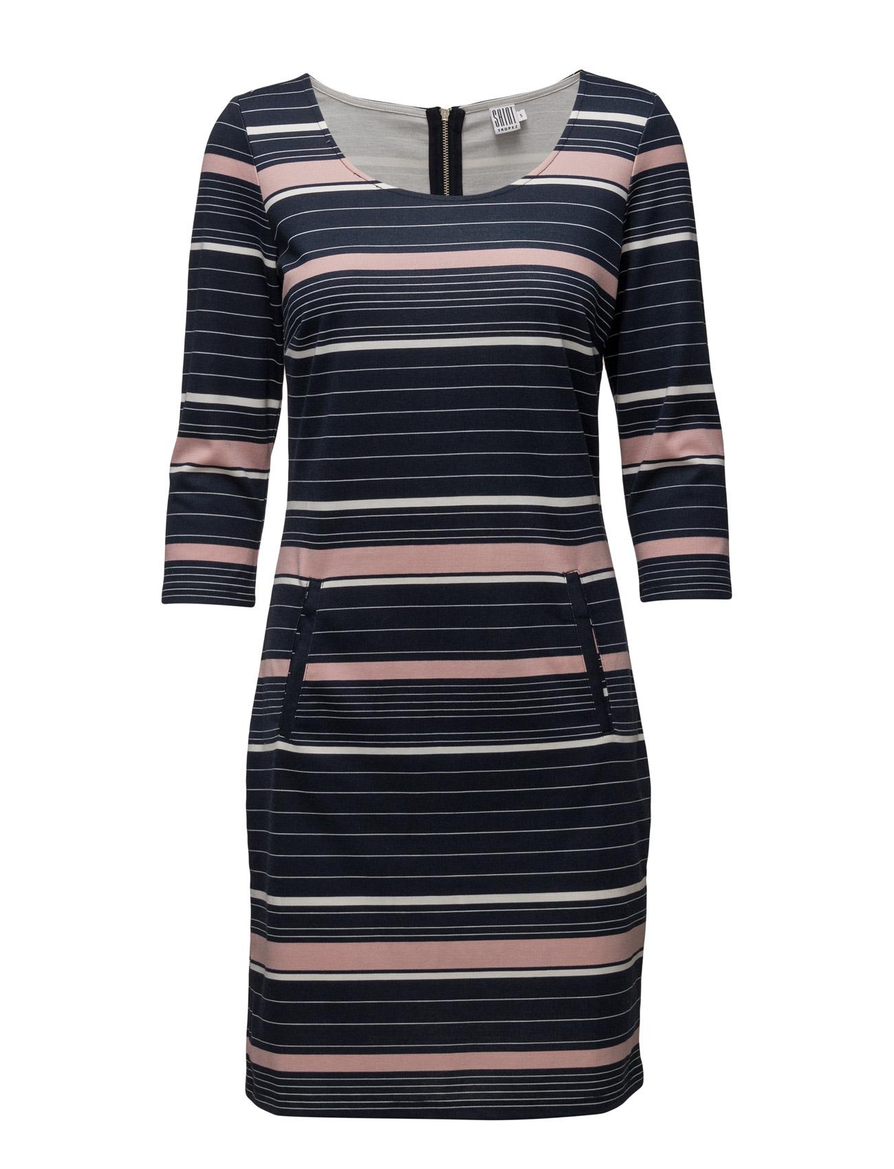 Mix Striped Jersey Dress Saint Tropez Knælange & mellemlange til Damer i