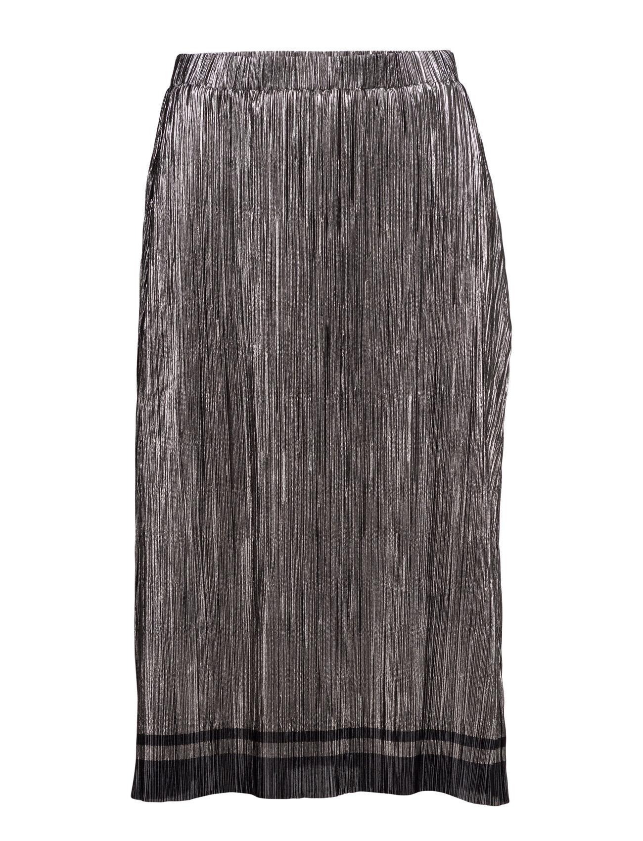 Plisse Foil Skirt Saint Tropez Knælange & mellemlange til Damer i Sort