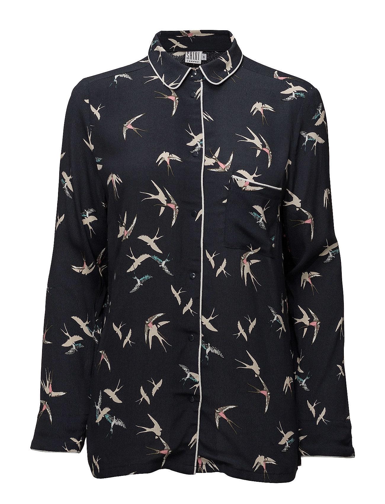 saint tropez – Bird print shirt på boozt.com dk